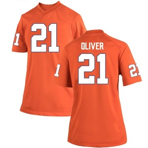 Anthony Oliver II Nike Clemson Tigers Women's Game Team Color College Jersey - Orange