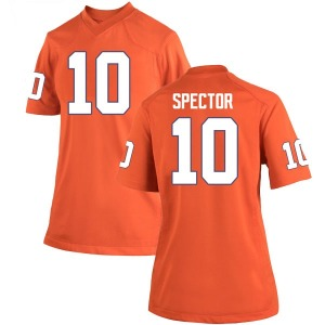 Baylon Spector Nike Clemson Tigers Women's Game Team Color College Jersey - Orange