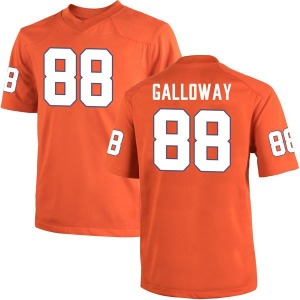 Braden Galloway Nike Clemson Tigers Youth Game Team Color College Jersey - Orange