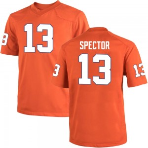 Brannon Spector Nike Clemson Tigers Men's Replica Team Color College Jersey - Orange