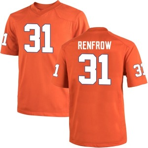 Cole Renfrow Nike Clemson Tigers Men's Replica Team Color College Jersey - Orange