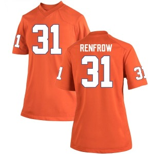 Cole Renfrow Nike Clemson Tigers Women's Replica Team Color College Jersey - Orange