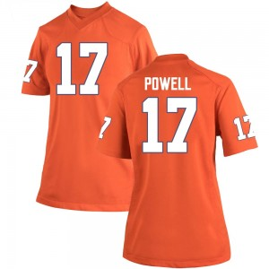 Cornell Powell Nike Clemson Tigers Women's Game Team Color College Jersey - Orange