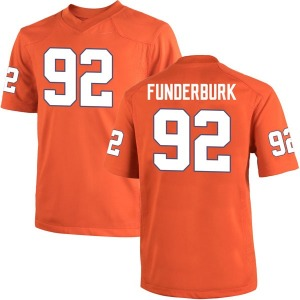 Daniel Funderburk Nike Clemson Tigers Youth Game Team Color College Jersey - Orange