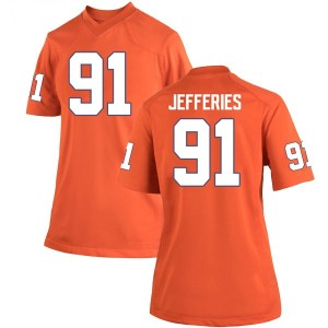 Darnell Jefferies Nike Clemson Tigers Women's Game Team Color College Jersey - Orange