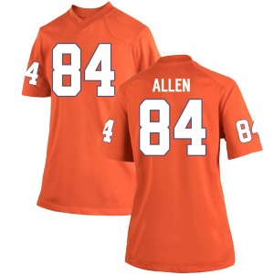 Davis Allen Nike Clemson Tigers Women's Game Team Color College Jersey - Orange