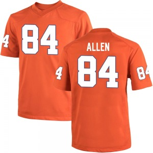 Davis Allen Nike Clemson Tigers Youth Game Team Color College Jersey - Orange