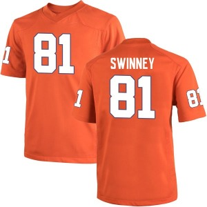 Drew Swinney Nike Clemson Tigers Youth Game Team Color College Jersey - Orange