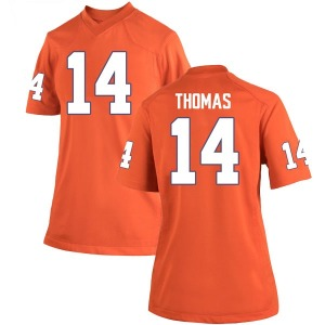 Elijah Thomas Nike Clemson Tigers Women's Game Team Color College Jersey - Orange