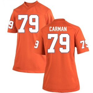 Jackson Carman Nike Clemson Tigers Women's Game Team Color College Jersey - Orange