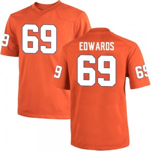 Jacob Edwards Nike Clemson Tigers Men's Replica Team Color College Jersey - Orange