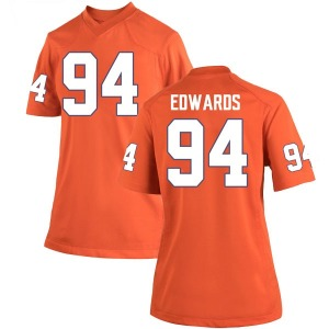 Jacob Edwards Nike Clemson Tigers Women's Game Team Color College Jersey - Orange