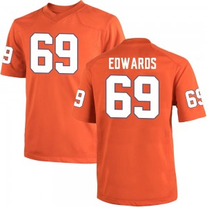 Jacob Edwards Nike Clemson Tigers Youth Game Team Color College Jersey - Orange