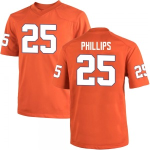 Jalyn Phillips Nike Clemson Tigers Men's Game Team Color College Jersey - Orange