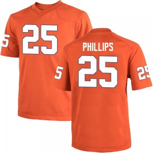 Jalyn Phillips Nike Clemson Tigers Youth Game Team Color College Jersey - Orange