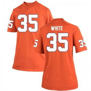 Javan White Nike Clemson Tigers Women's Replica Team Color College Jersey - Orange