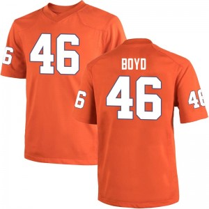 John Boyd Nike Clemson Tigers Men's Game Team Color College Jersey - Orange