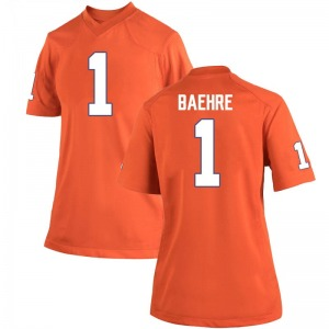 Jonathan Baehre Nike Clemson Tigers Women's Game Team Color College Jersey - Orange