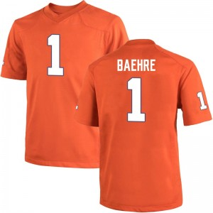 Jonathan Baehre Nike Clemson Tigers Youth Game Team Color College Jersey - Orange