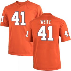 Jonathan Weitz Nike Clemson Tigers Men's Game Team Color College Jersey - Orange