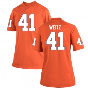 Jonathan Weitz Nike Clemson Tigers Women's Game Team Color College Jersey - Orange