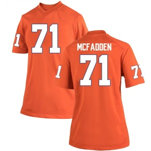 Jordan McFadden Nike Clemson Tigers Women's Replica Team Color College Jersey - Orange