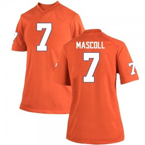 Justin Mascoll Nike Clemson Tigers Women's Game Team Color College Jersey - Orange