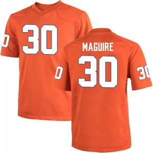 Keith Maguire Nike Clemson Tigers Men's Game Team Color College Jersey - Orange