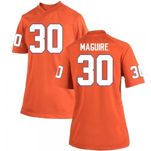 Keith Maguire Nike Clemson Tigers Women's Game Team Color College Jersey - Orange