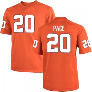 Kobe Pace Nike Clemson Tigers Youth Replica Team Color College Jersey - Orange