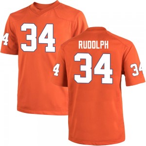Logan Rudolph Nike Clemson Tigers Youth Game Team Color College Jersey - Orange