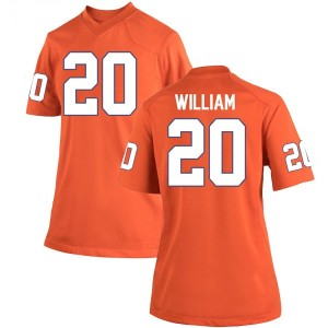 Malik William Nike Clemson Tigers Women's Game Team Color College Jersey - Orange