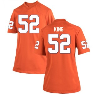 Matthew King Nike Clemson Tigers Women's Replica Team Color College Jersey - Orange
