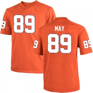Max May Nike Clemson Tigers Youth Game Team Color College Jersey - Orange
