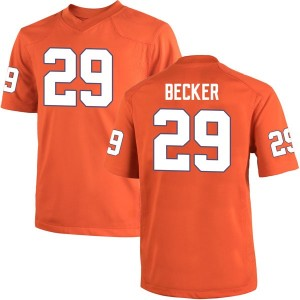 Michael Becker Nike Clemson Tigers Men's Game Team Color College Jersey - Orange