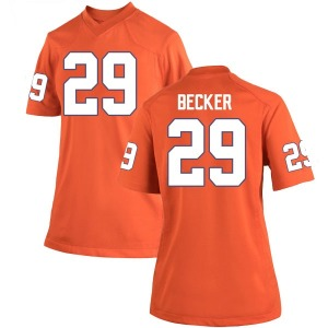 Michael Becker Nike Clemson Tigers Women's Game Team Color College Jersey - Orange