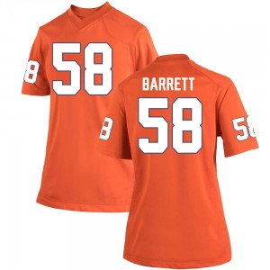 Ryan Barrett Nike Clemson Tigers Women's Game Team Color College Jersey - Orange