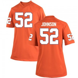 Tayquon Johnson Nike Clemson Tigers Women's Game Team Color College Jersey - Orange