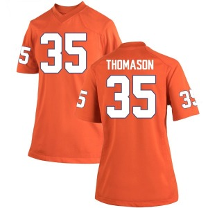 Ty Thomason Nike Clemson Tigers Women's Game Team Color College Jersey - Orange