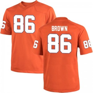 Tyler Brown Nike Clemson Tigers Men's Game Team Color College Jersey - Orange