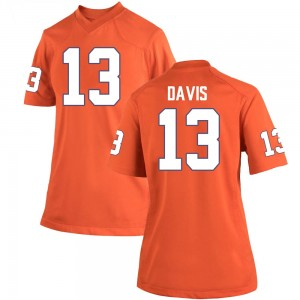 Tyler Davis Nike Clemson Tigers Women's Replica Team Color College Jersey - Orange