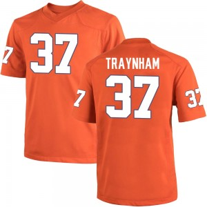 Tyler Traynham Nike Clemson Tigers Youth Game Team Color College Jersey - Orange