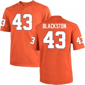Will Blackston Nike Clemson Tigers Youth Game Team Color College Jersey - Orange