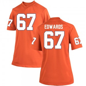 Will Edwards Nike Clemson Tigers Women's Game Team Color College Jersey - Orange