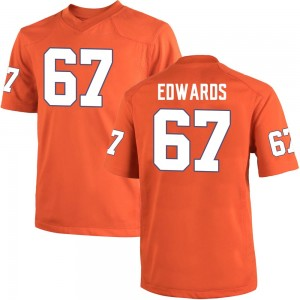 Will Edwards Nike Clemson Tigers Youth Game Team Color College Jersey - Orange