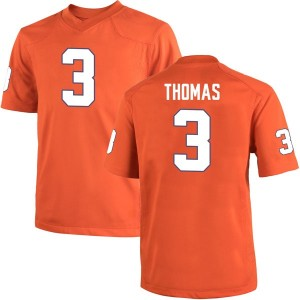 Xavier Thomas Nike Clemson Tigers Men's Game Team Color College Jersey - Orange