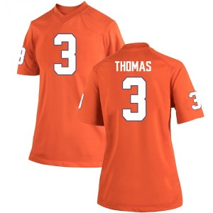 Xavier Thomas Nike Clemson Tigers Women's Game Team Color College Jersey - Orange
