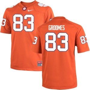 Carter Groomes Nike Clemson Tigers Men's Authentic Team Color Jersey  -  Orange