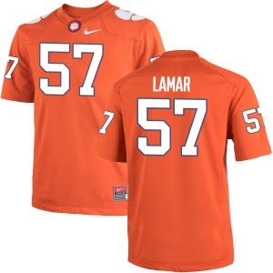 Tre Lamar Nike Clemson Tigers Men's Replica Team Color Jersey  -  Orange