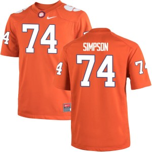 John Simpson Nike Clemson Tigers Men's Game Team Color Jersey  -  Orange